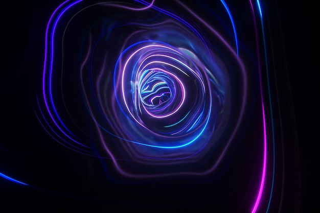 Abstract colorful background of futuristic tunnel