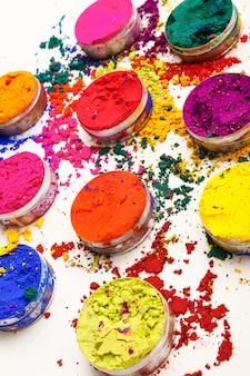 추상 화려한 배경 - 인도 holi 축제 색상