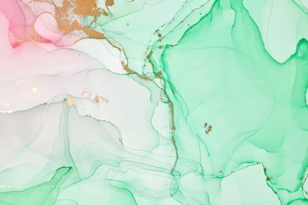 추상 화려한 배경, 벽지입니다. 아크릴 물감 혼합. 현대 미술. 대리석 질감을 그립니다. 반투명 알코올 잉크 색상