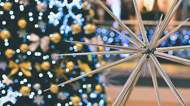 Abstract colorful background with christmas tree