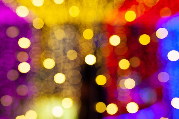 Abstract of colorful bokeh light background, darkness concept