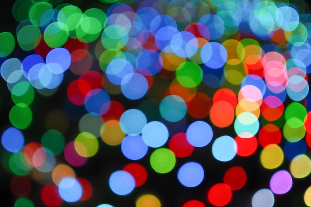 Abstract of colorful bokeh light background