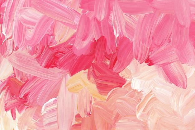 Абстрактные красочные мазки фон красный, розовый, белый, оранжевый мазки кистью на бумаге