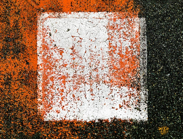 Abstract colorful composition on the asphalt
