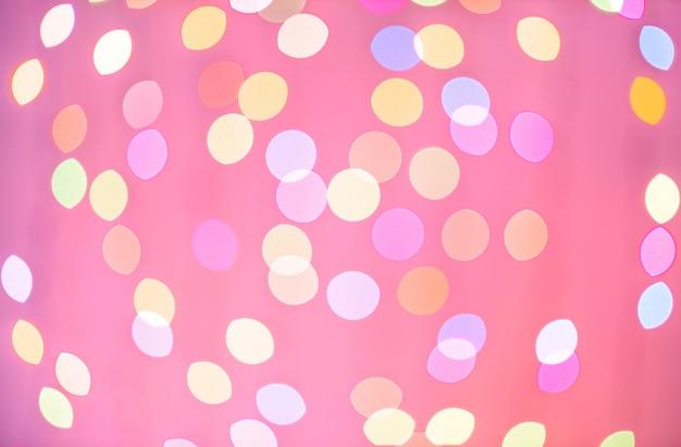 Abstract colorful defocused circular facula holiday bokeh