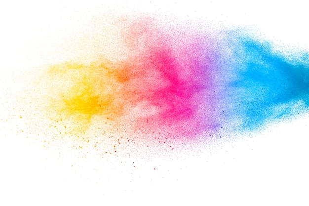 Abstract colorful dust particles textured background.