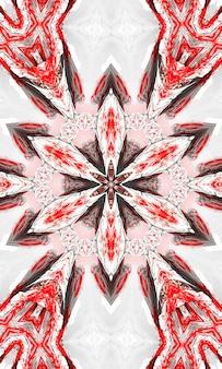 Абстрактные красочные цветы флора концепция симметричный узор декоративные декоративные калейдоскоп движения геометрический круг и формы звезд. вертикальное изображение.