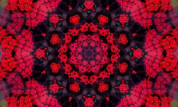 Абстрактные красочные цветы флора концепция симметричный узор декоративные декоративные калейдоскоп движения геометрический круг и формы звезд.