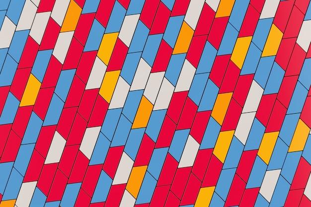 추상 다채로운 기하학적 차단 모양 배경 극단적인 근접 촬영입니다. 3d 렌더링