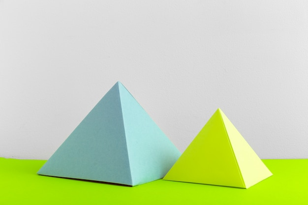 Abstract colorful geometrical close up soft focus
