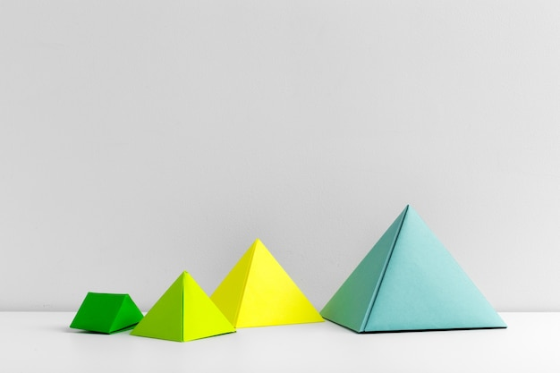 Abstract colorful geometrical shapes
