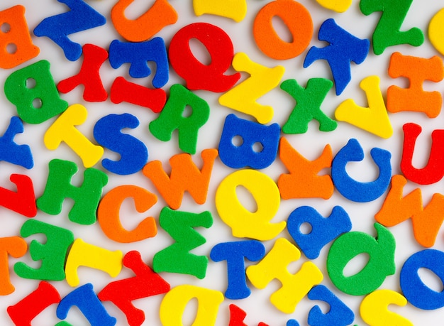 Abstract colorful letters