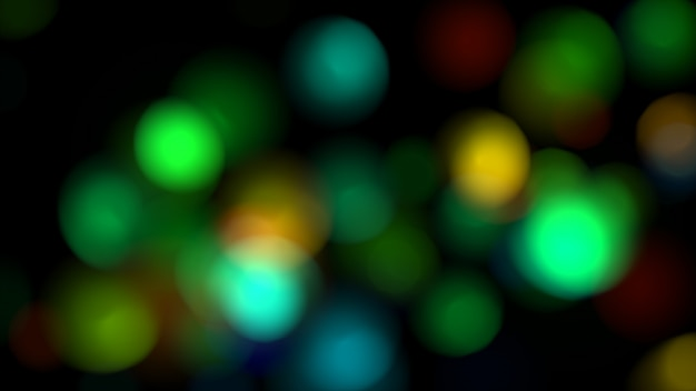 Abstract colorful lights in defocus 3d illustration