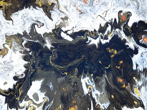 움직이는 액체 아크릴 페인트로 만든 창의적인 디자인을 위한 추상 화려한 대리석 형태