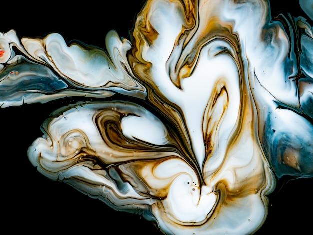 創造的なデザインのための抽象的なカラフルな大理石のフォーム