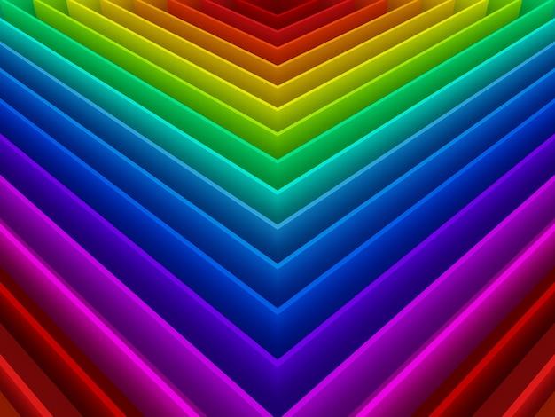 Абстрактные красочные радуги фона, 3d