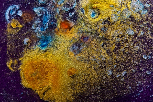 Abstract colorful paint texture close up