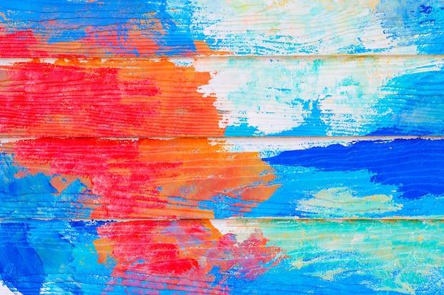 抽象的なカラフルな塗装壁