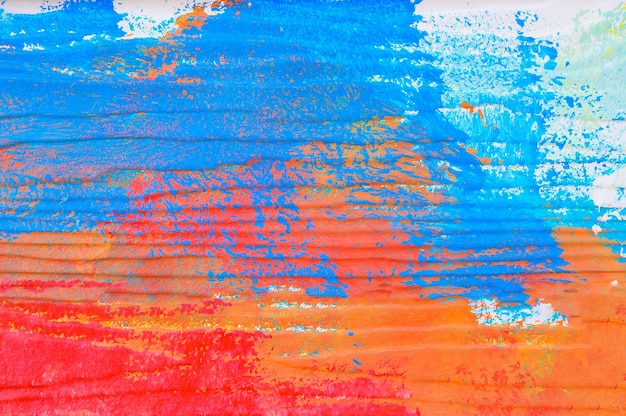 Abstract colorful painted wall
