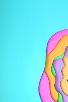 추상 다채로운 종이 잘라 포스터 템플릿, 화려한, 패턴 추상 예술 디자인