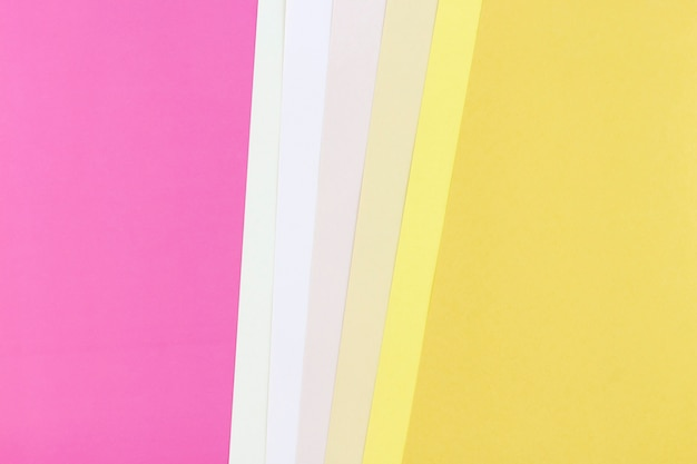 Abstract of colorful papers with copy space background.