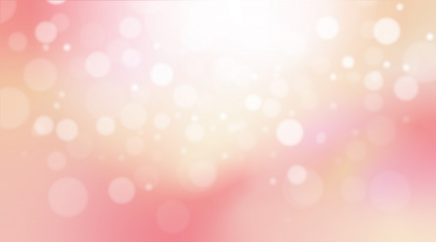 Abstract colorful pastel pink bokeh light background.