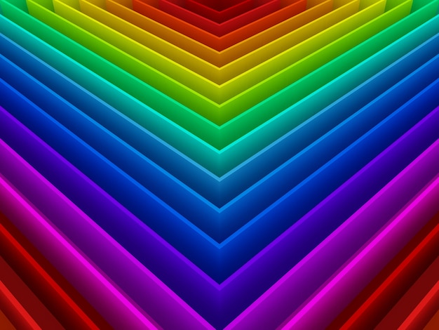 Abstract colorful of  rainbow  background,3d