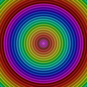 Абстрактный красочный фон перспективы радуги