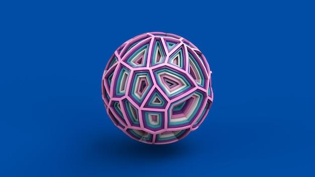 Абстрактный красочный шар синий фон