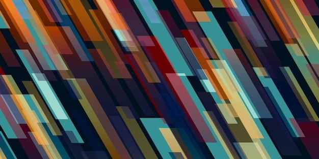 抽象的なカラフルな正方形の光斜め斜めの背景
