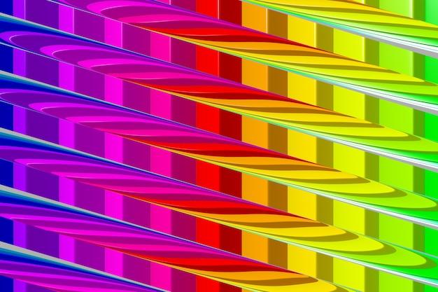 虹色の抽象的なカラフルな鮮やかな背景。