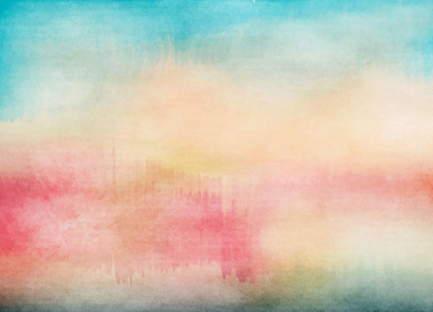 Abstract colorful water color for background. digital art painting.