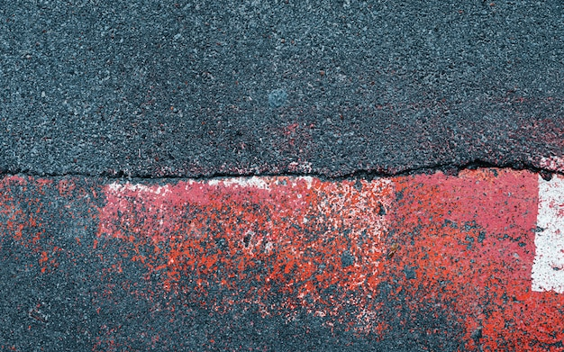 Abstract composition on the asphalt