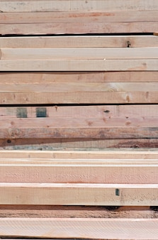 Abstract composition with pile of wooden boards background