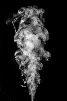 Abstract composition with smoke on black background for design