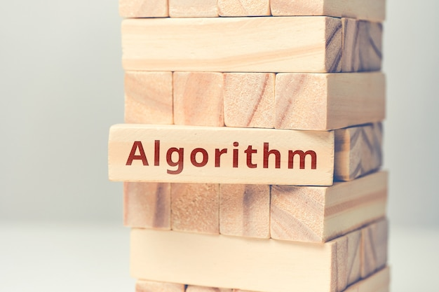 Abstract concept of coding and programming algorithm.