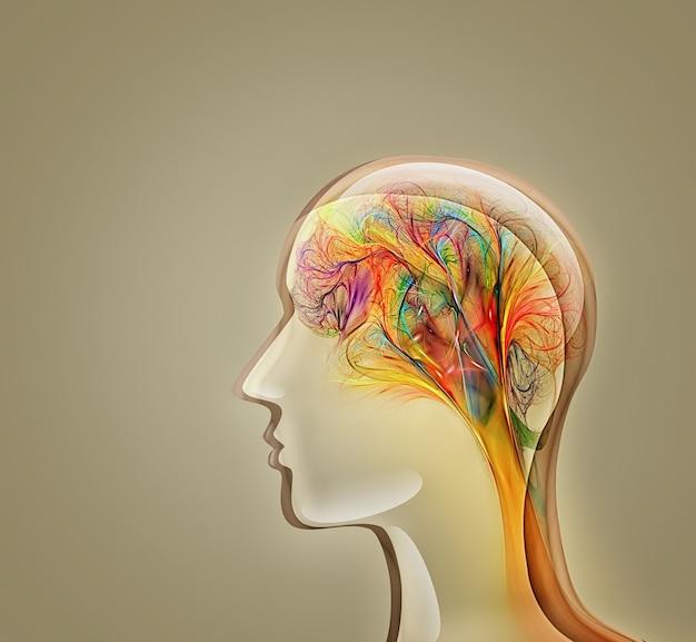 Абстрактный концептуальный образ человеческого воображения, вдохновения.