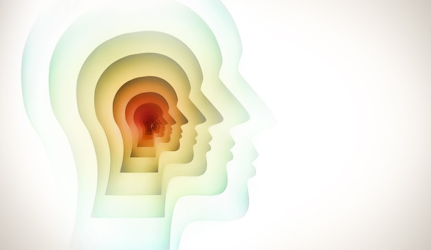 Абстрактный концептуальный образ человеческого разума.