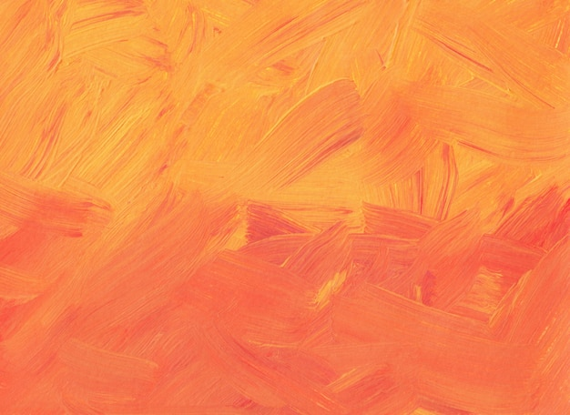 Абстрактная живопись кораллового и персикового цвета. оранжевые и красные мазки на бумаге текстурированные. современное искусство.