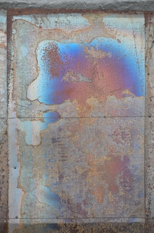 Abstract corrosion texture on the copper plated steel sheet