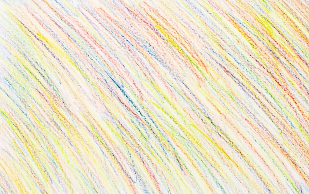 Abstract crayon drawings on white paper background - texture