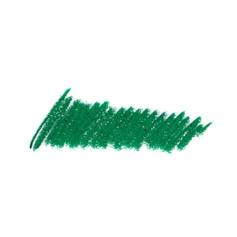 Abstract crayon on white background. green crayon scribble texture. wax pastel spot.
