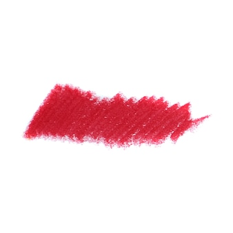 Abstract crayon on white background. red crayon scribble texture. wax pastel spot.