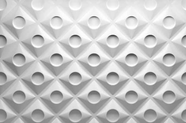 Abstract creative 3d pattern with round shapes