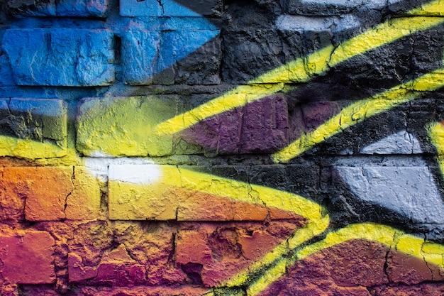 Sfondo di graffiti murale creativo astratto