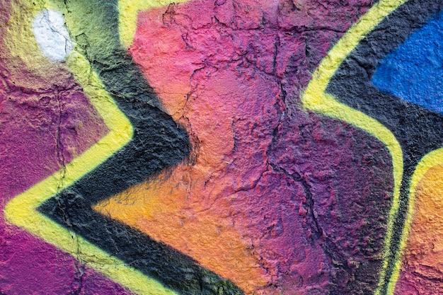 Carta da parati murale creativa astratta con graffiti