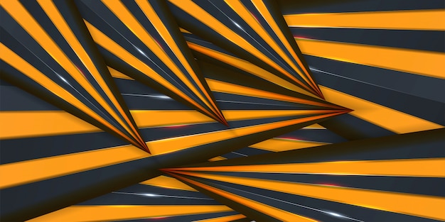 Abstract creative trendy dynamic 3d yellow background