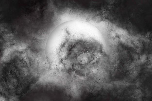 Абстрактный полумесяц на темном небе на ночном фоне хэллоуин фон