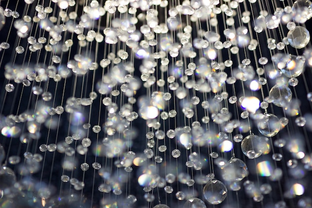 Abstract crystal chandelier background in soft focus.