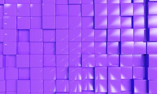 추상 큐브 블록 배경 3d 렌더링